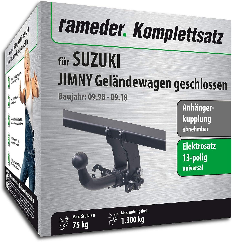 Rameder Komplettsatz 164985-03972-1 13pol Elektrik f/ür Suzuki JIMNY Gel/ändewagen geschlossen Anh/ängerkupplung abnehmbar