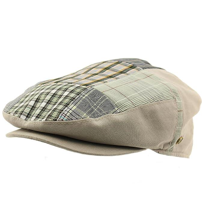 340ea7e5e SK Hat shop Men's 100% Cotton 14 Patch IVY Snap Front Driver Cabby Flat Cap  Hat Gray