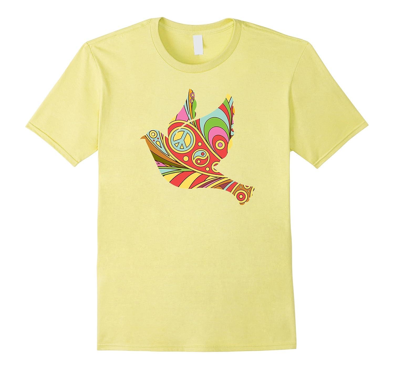 0967fd99 Peace Dove Psychedelic Doodle Art Hippy T Shirt Zany Brainy Td Teedep