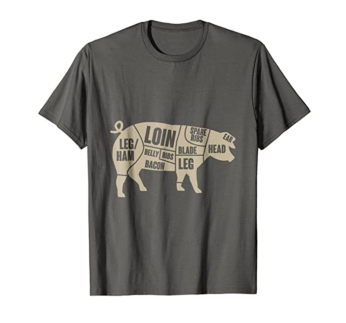 Amazon Pig Anatomy T Shirt Pork Meat Cuts Tee Clothing