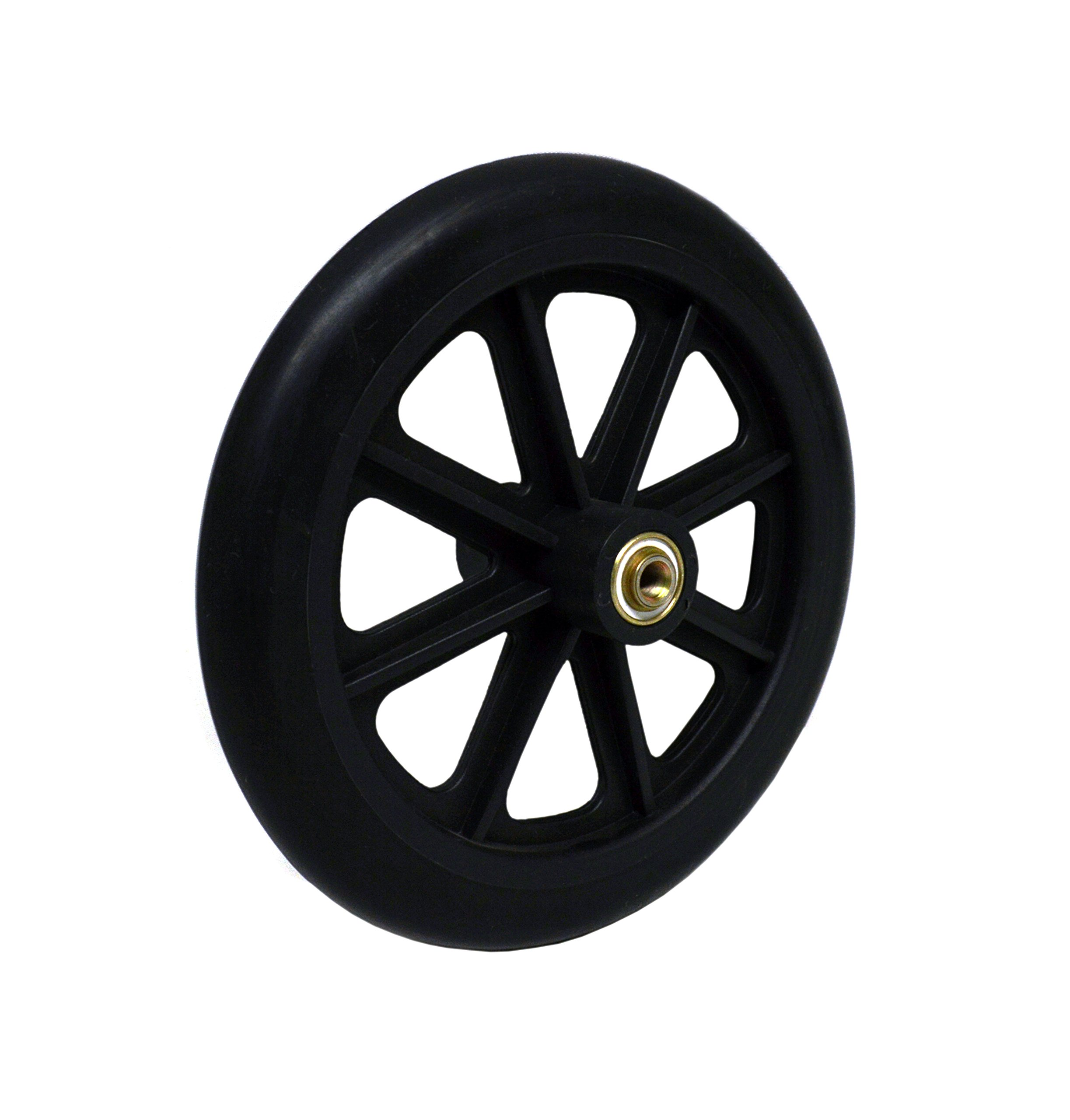 8'' x 1'' Front Wheelchair Wheel (Each), 5/16'' (8 mm) Bearing, 2-3/8'' (60 mm) Hub Width, Fits Most Medline, Drive, Invacare, E&J, Guardian, Tuffcare, ALCO & Other Manual Wheelchairs