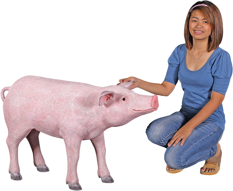Amazon Com Design Toscano The Pig Life Size Hog Statue Garden Outdoor