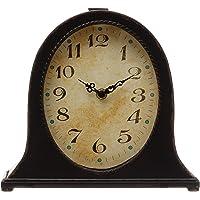 Creative Co-op DF4082 Metal Mantel Clock, Black (Requires 1-AA Battery) Décor