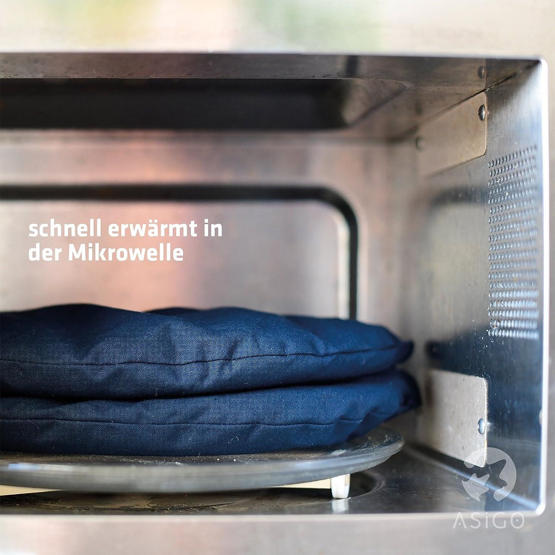 Scaldare in Forno a Microonde//Forno Cuscino Riscaldante Cervicale Termico con Noccioli di Ciliegio Prodotto in Germania Ideale per Lenire il Dolore Schiena e Nuca Dolori Muscolari Coliche