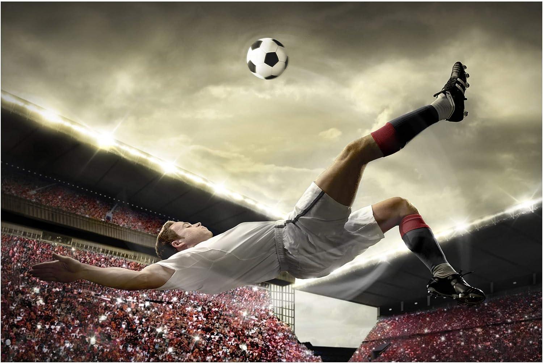 Bilderwelten Fotomural - Football Action - Mural apaisado papel pintado fotomurales murales pared papel para pared foto 3D mural pared barato ...