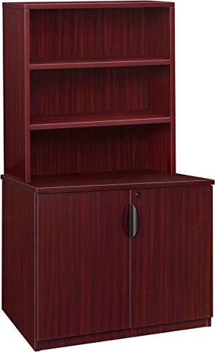 Regency Legacy 29-inch Storage Cabinet with Open Hutch- Mahogany
