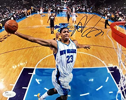 new york 19d1b 5d12b Signed Anthony Davis Picture - 8x10 - JSA Certified ...