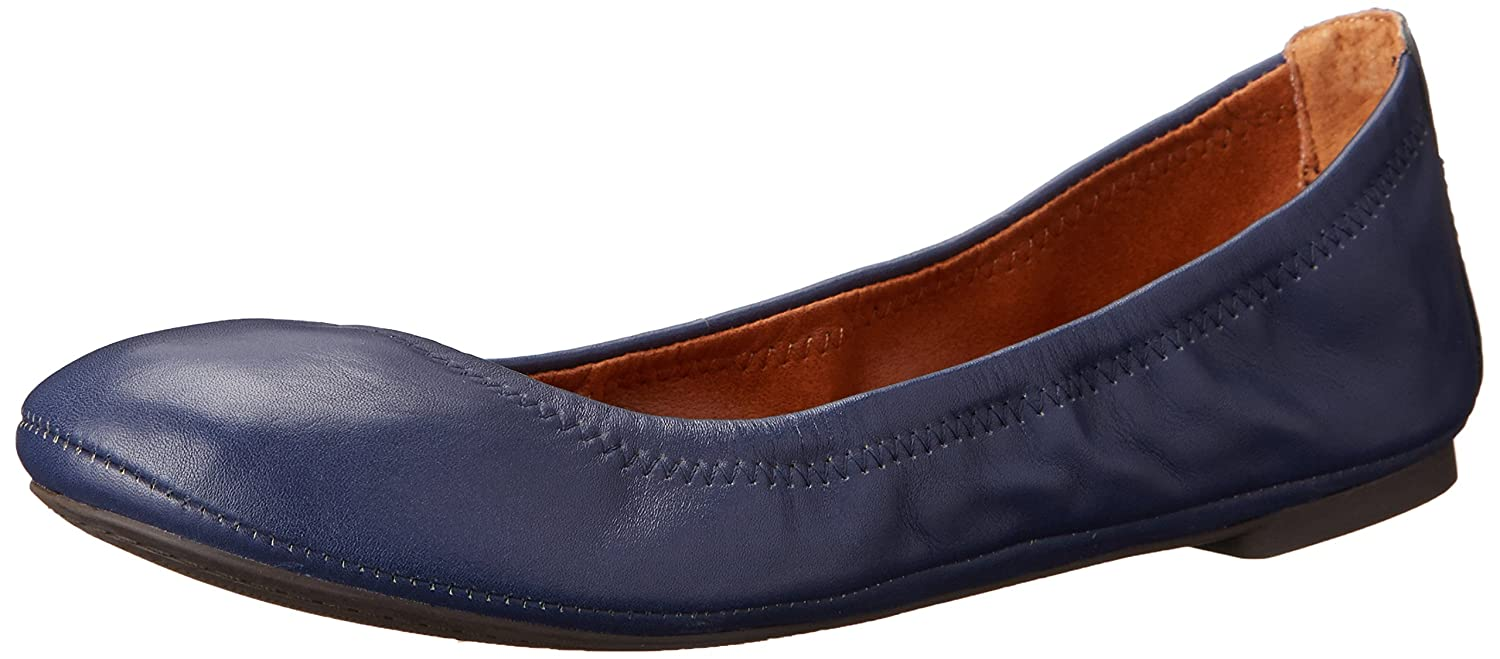 Lucky Brand Women's Lucky Emmie Ballet Flat B00HRVXOLM 8 W US|American Navy/Leather
