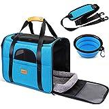 morpilot Pet Travel Carrier Bag, Portable Pet Bag - Folding Fabric Pet Carrier, Travel Carrier Bag for Dogs or Cats, Pet…