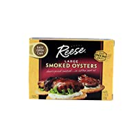 Reese Large Smoked Oysters, 3.7-Ounces (Pack of 10)