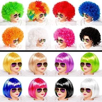 CABARET de la peluca pelucas afro Bob para Carnaval Disfraz bridas de hípica Babe buurkroog