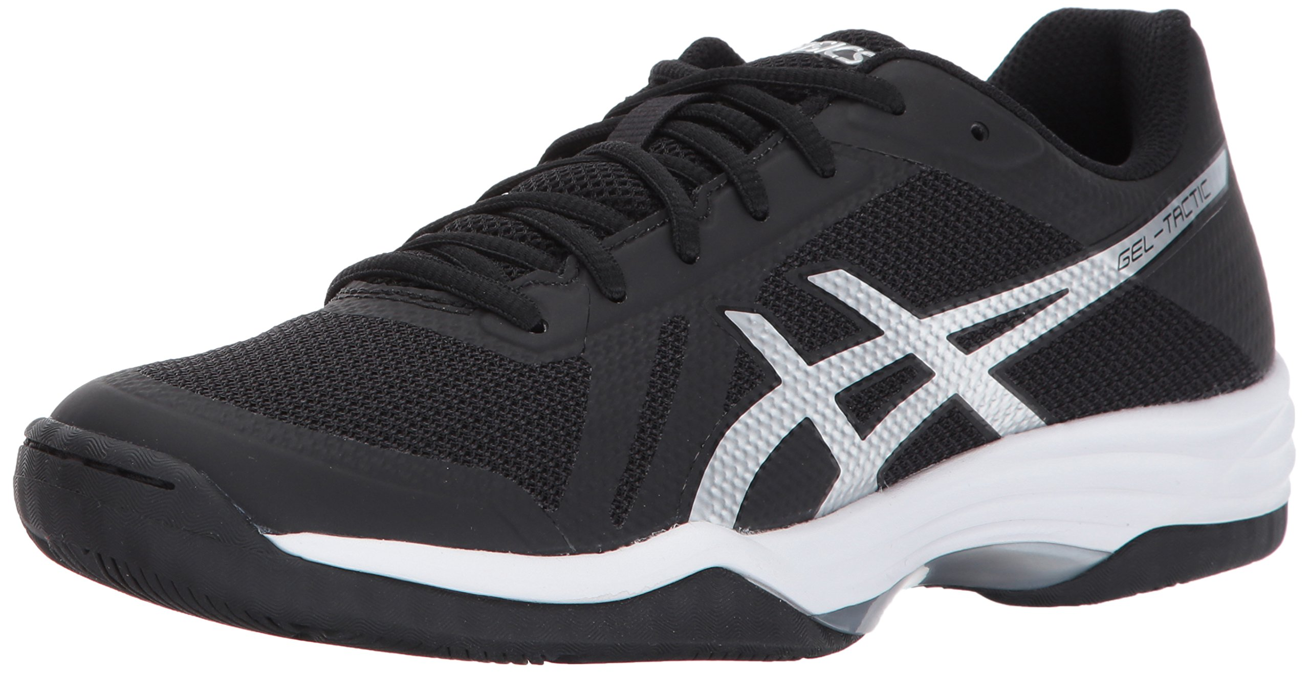 ASICS Womens Gel-Tactic 2 Volleyball Shoe, Black/Silver/White, 10 Medium US by ASICS