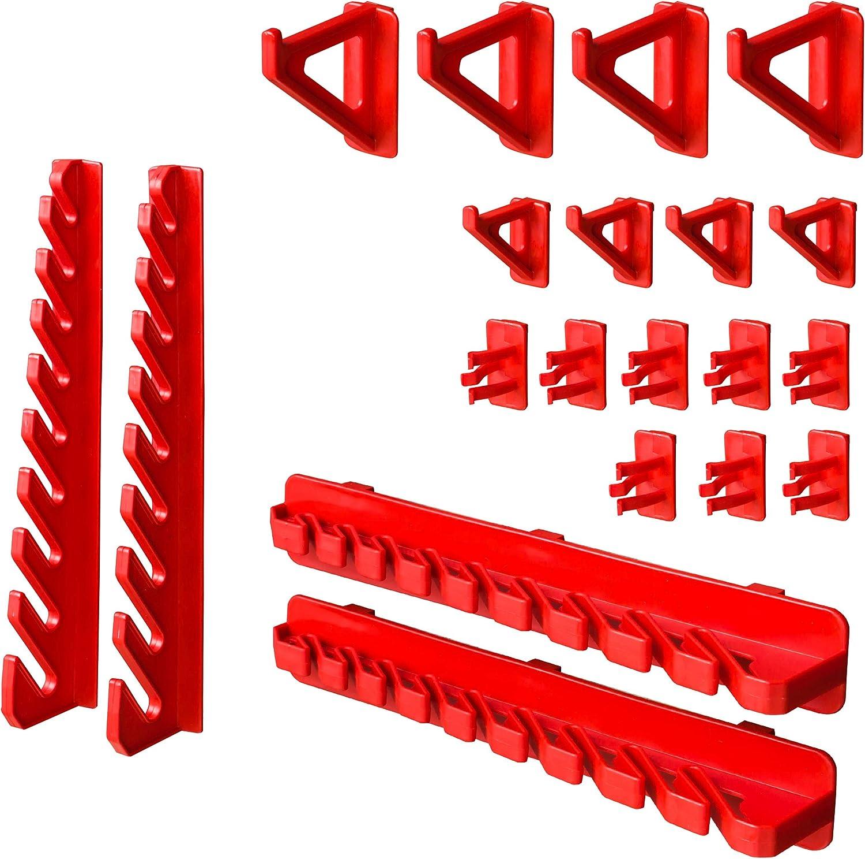 Tr/ès solide Bo/îte empilable /Étag/ère de rangement Support /à outils 23 pi/èces /Étag/ère murale 115 x 78 cm Pour /étag/ère de rangement