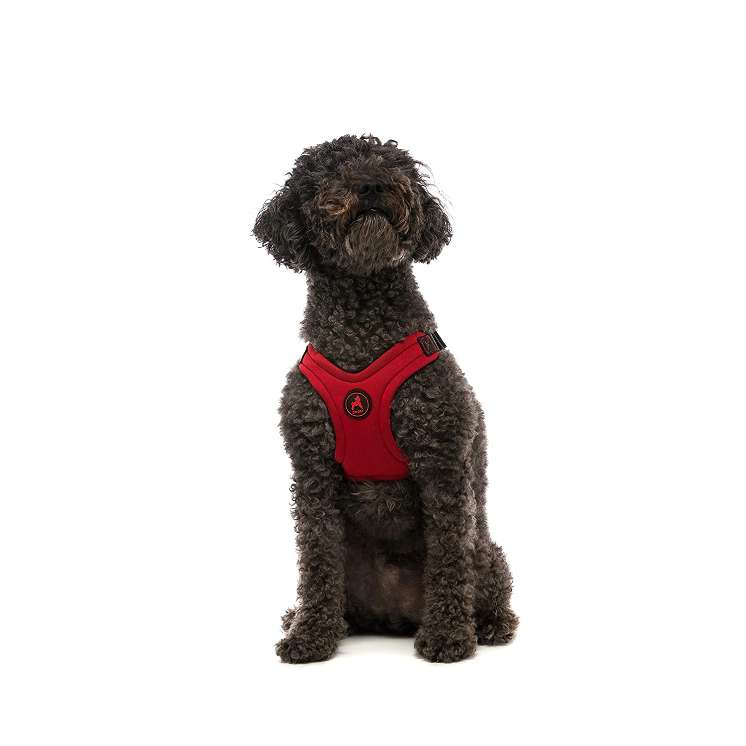 Gooby Escape Free Sport Dog Harness for Dogs That Pulls and Escapes, Red, Medium