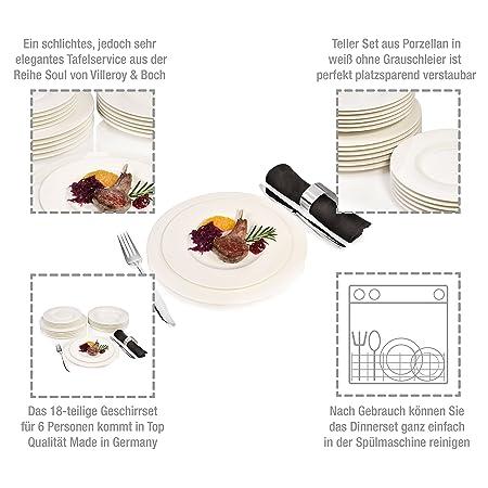 Carte Black Cmb.Villeroy Boch Group Soul Porcelain Dinner Service 18 Pieces