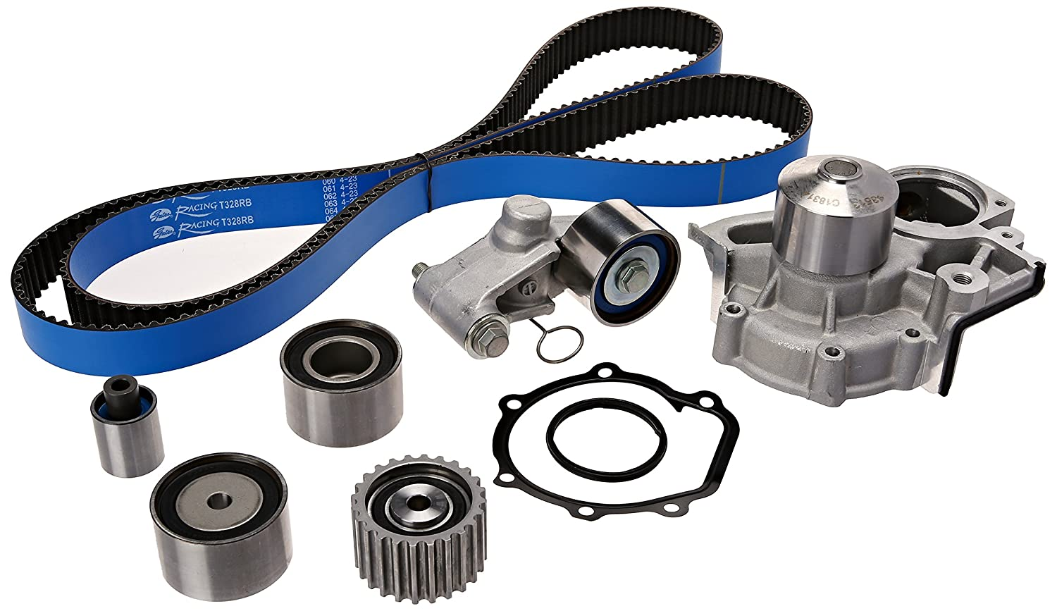 Gates TCKWP328BRB Timing Belt Component Kit with Water Pump