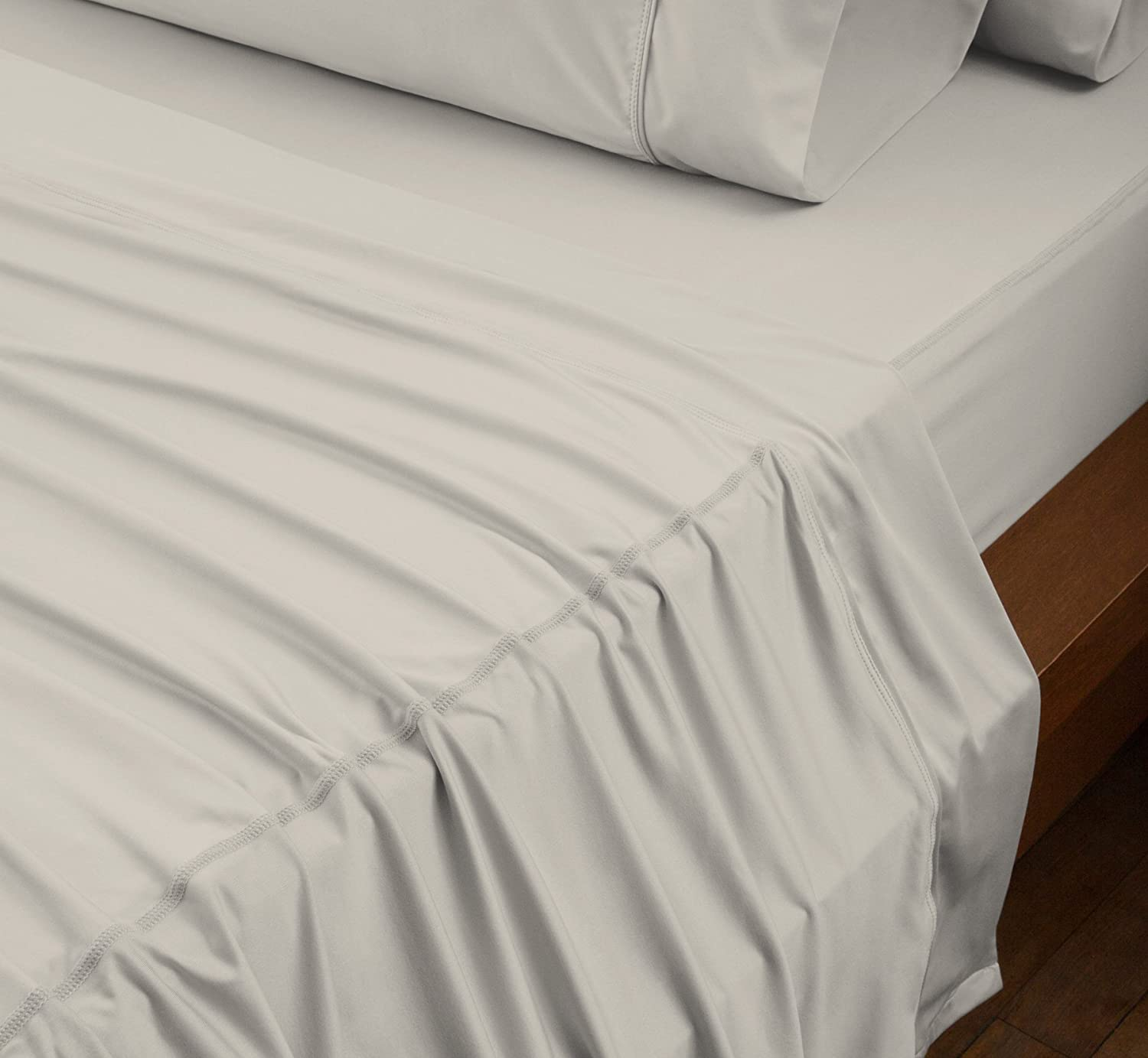 Khaki Original Performance Fitted Sheet Twin 1 Fitted Sheet ONLY One Ultra-Soft Fabric Transfers Body Heat Breathes Better Than Traditional Cotton SHEEX