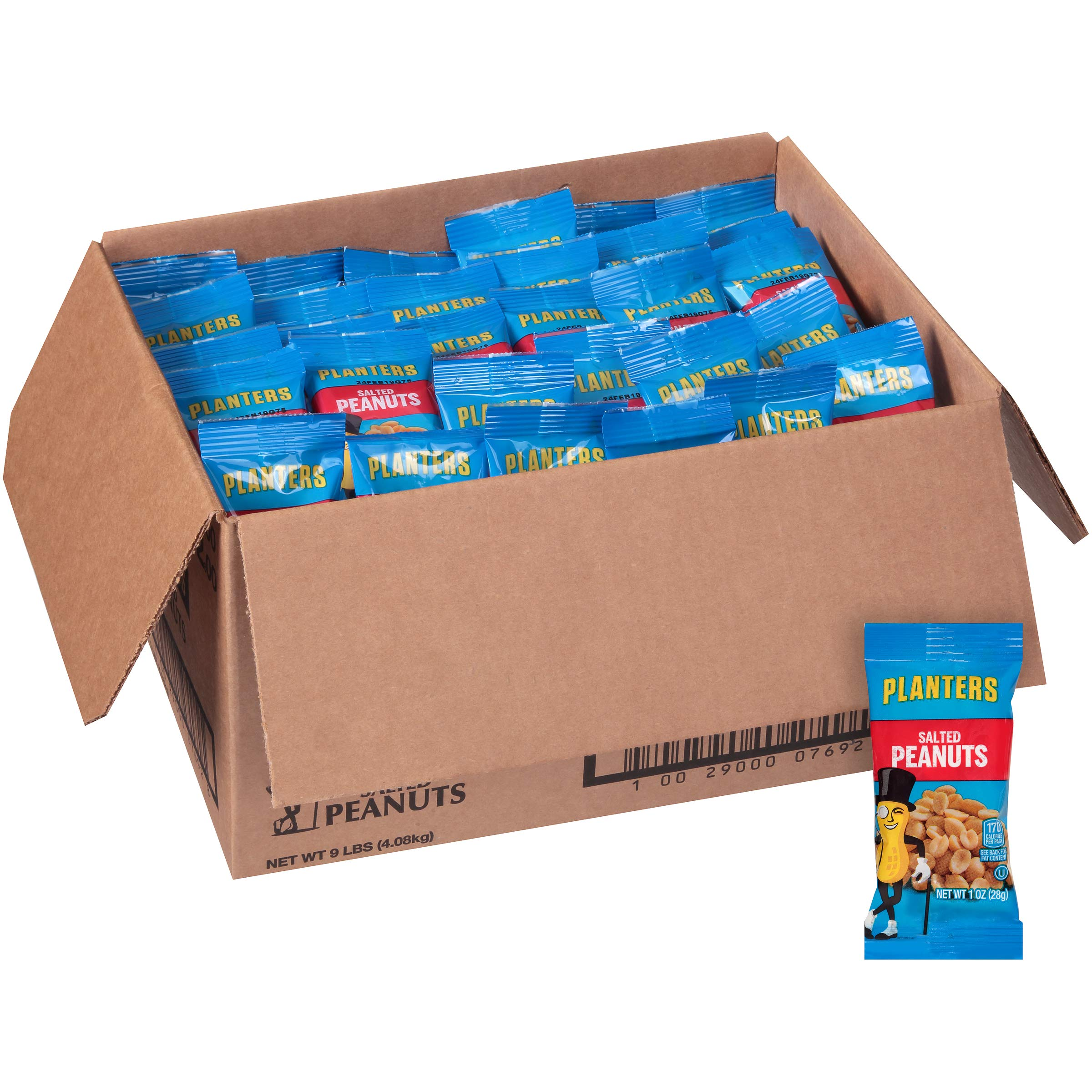 Planters Single Serve Salted Peanuts (1 oz Bags, Pack of 144) by Planters (Image #4)