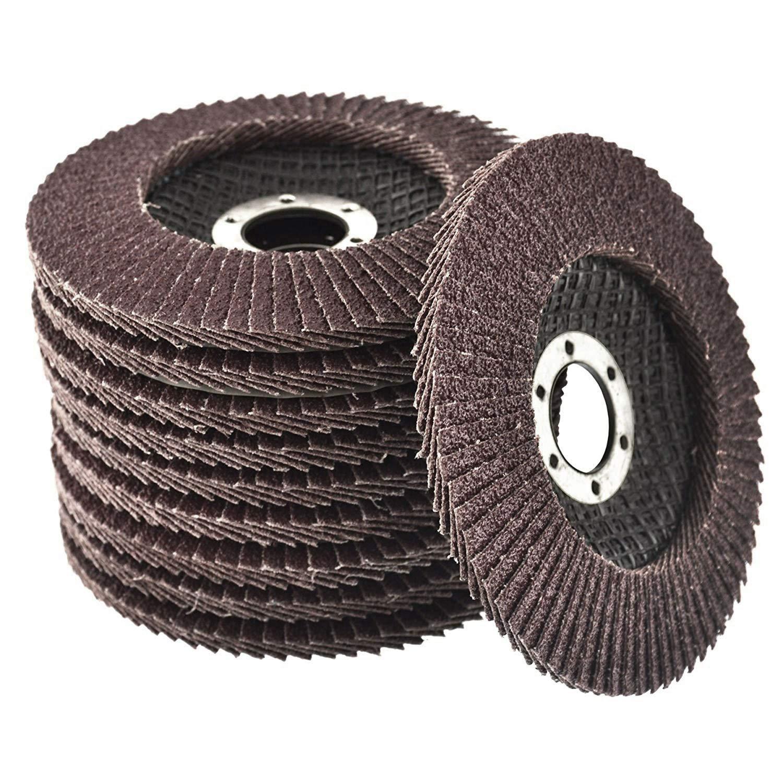 10 pieza – Disco abrasivo 115 mm, grano 60 compartimentos – muela de láminas inox, disco de laminas, discos Mop disco abrasivo de cuchilla