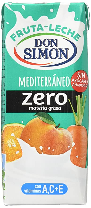 Don Simon Mediterraneo refresco Mixta de Zumo de Frutas y Leche, 6x200 ml