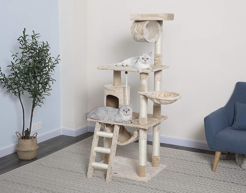 9. Go Pet Club 62 Inch Cat Tree