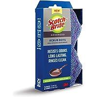 Scotch-Brite Scrub Dots Advanced Non-Scratch Scrubbers, 2 Scrub Sponges