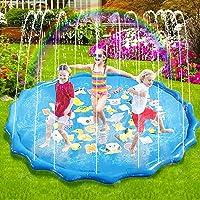 Sunshine smile Splash Pad Waterspeelmat, 170 cm, Splash Play Mat, Splash Pad Waterspeelgoed, Waterspeelmat, Essentieel…