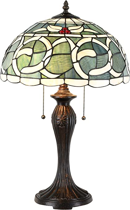 Zhimei Tiffany Table Lamp, Stained