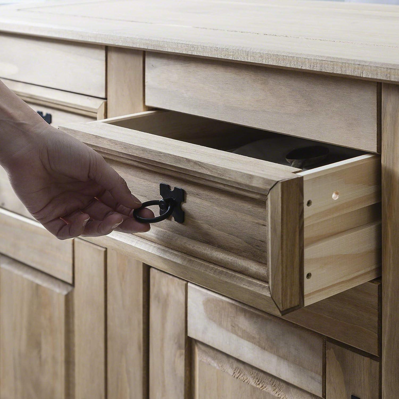 Waxed Pine Corona Small Sideboard 2 Door 2 Drawer
