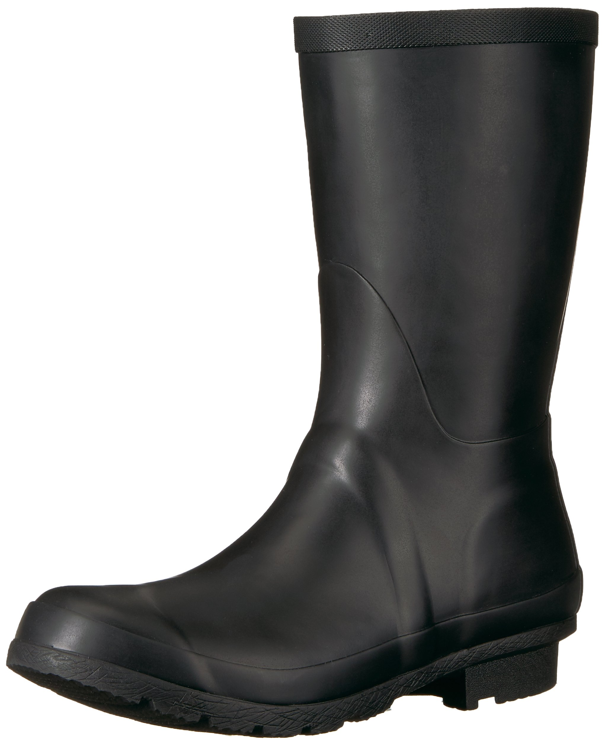 206 Collective Women's Linden Mid Rain Boot, Black, 8 B US