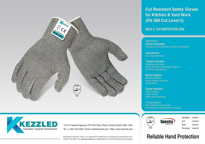 Kevlar®, Spectra® Cut Resistant Safety Gloves for Kitchen & Yard ...