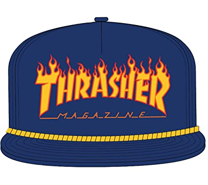 a37a76bd04d Thrasher Flame Rope Snapback at Amazon Men s Clothing store