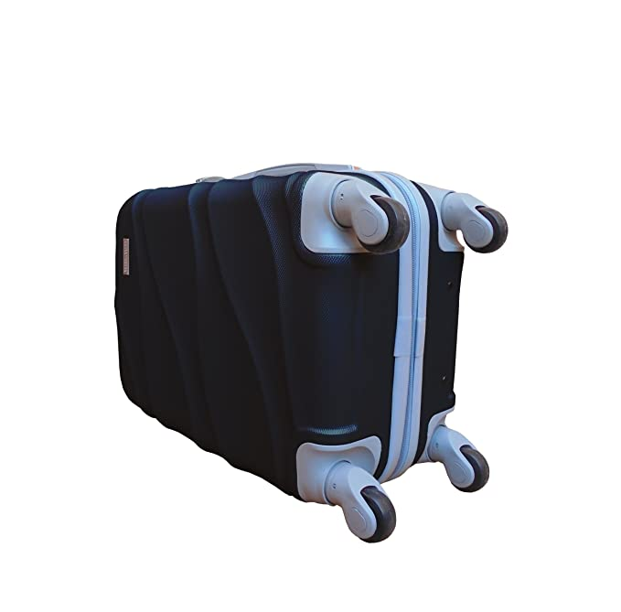 FORHOME MALETA rigida Curved ABS CON 4 RUEDAS EN NEGRO para viaje tamaño cabina negra
