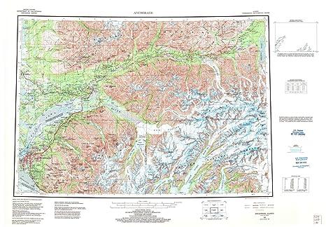 Amazon.com : YellowMaps Anchorage AK topo map, 1:250000 ... on map of anchorage ak, map of palmer alaska area, map of downtown fairbanks alaska, map of south anchorage, map of anchorage alaska with cities and towns,