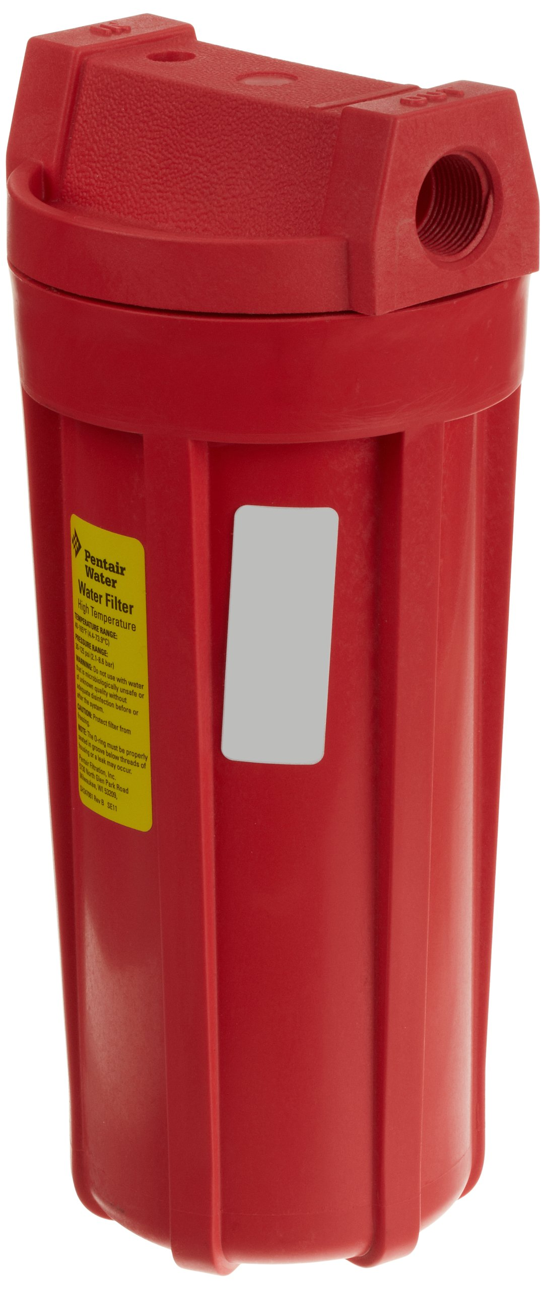 Pentek 150015 3/4'' #10 Standard High Temperature Red Filter Housing by Pentek