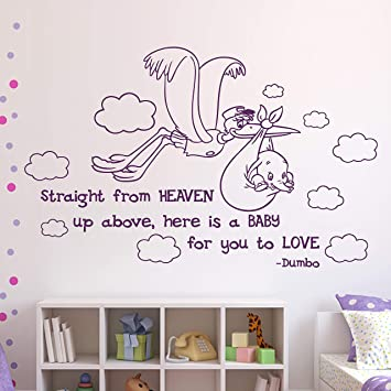 Dumbo Citation Autocollant Mural Chambre D Enfant De Dumbo Directement A Partir De Heaven Walt Disney Lettrage Autocollant En Vinyle Citation Disney
