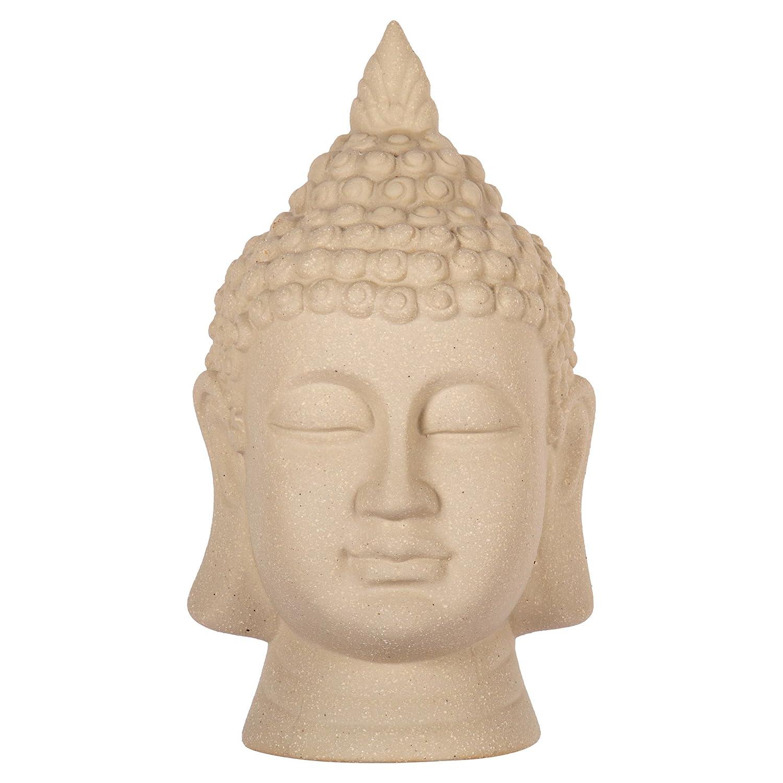 Truu Design, Ceramic Buddha Head Figurine, 8.5 inches, Grey CTG Brands 66484