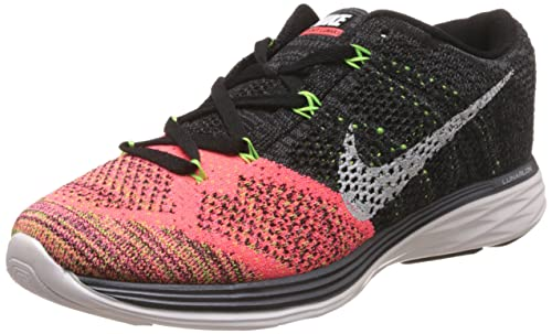 811616e35c9738 Nike Men s Flyknit Lunar 3 Black Running Shoes - 9 UK India (44 EU ...