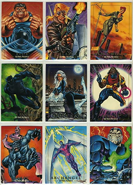 ffb1ae1dc54 1992 SkyBox Marvel Masterpieces Series-1 New 100-Card Complete Base Set  Plus 5