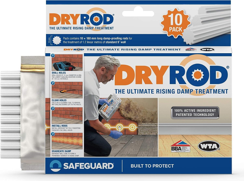 Safeguard Europe Dryrod Lot de 10 baguettes d/étanch/éit/é