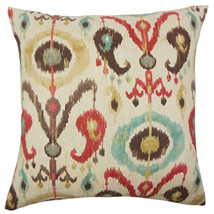 the pillow collection p18flat d 42456 copper c100 ikea ikat throw pillow - The Pillow Collection