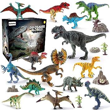 Modèle Chiffres Dinosaure Pour Plastique Educatif Ensemble Beebeerun De Cadeaux Enfants Jouet 21pcs Noël Jouets 9H2WEDI