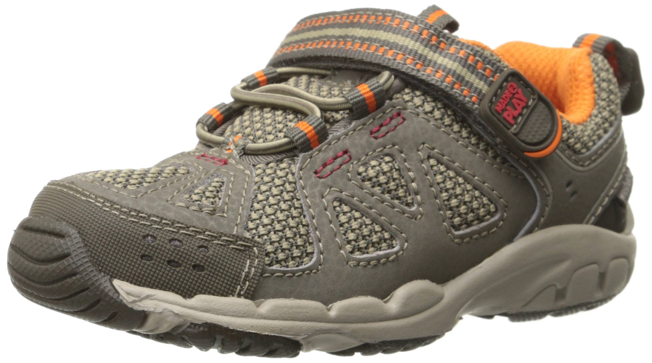 Stride Rite Made 2 Play Baby Ian Sneaker (Toddler),Taupe,4.5 XW US Toddler