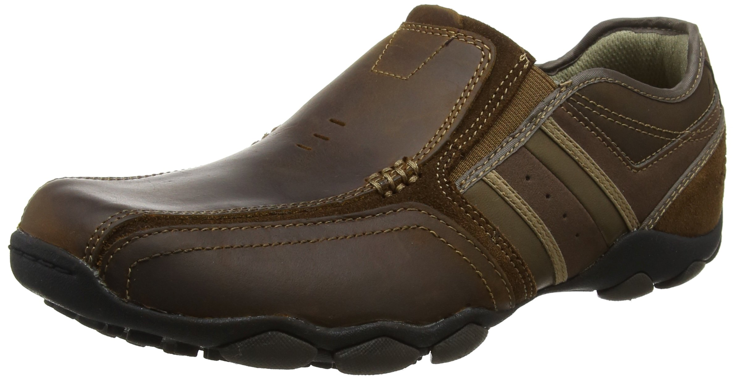 Skechers Men's Classic Fit Diameter-Zinroy, Dark Brown Leather, 8.5 D-Medium