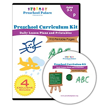 Amazoncom The Ultimate Preschool Curriculum Kit Printable - Daily lesson plan template for kindergarten