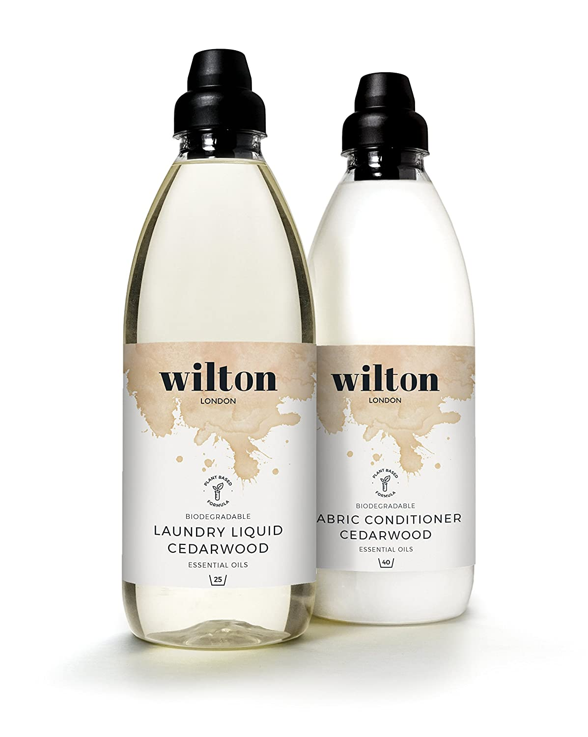 Wilton London Eco Laundry Liquid Detergent and Fabric Conditioner - Cedarwood 2X1litre