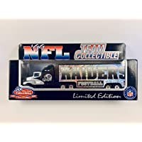 $24 » 1999 White Rose Collectibles NFL OAKLAND Team Collectible 1:80 Scale Diecast Replica Kenworth Tractor Trailer Transporter - RAIDERS