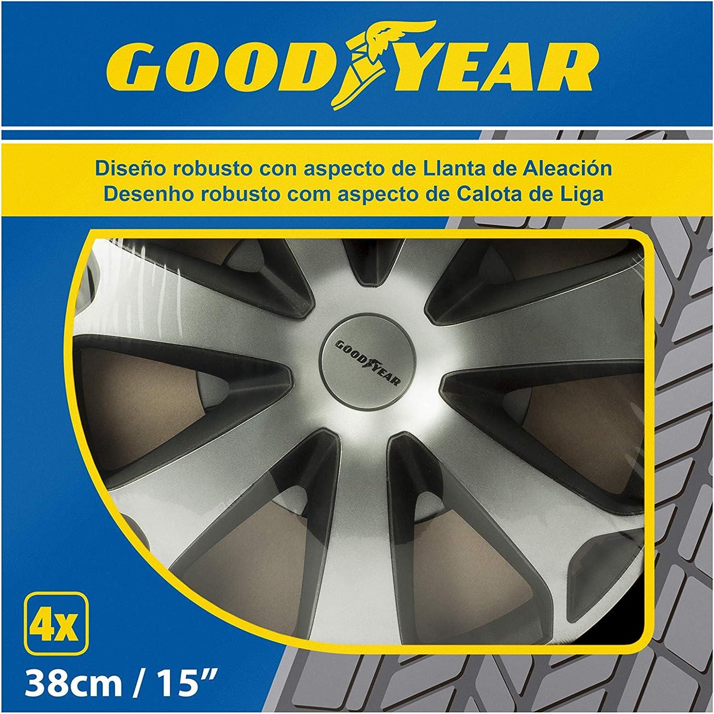 Goodyear GOD9042/Set di 4 Copricerchi Daytona 14 Pollici Argento//Nero