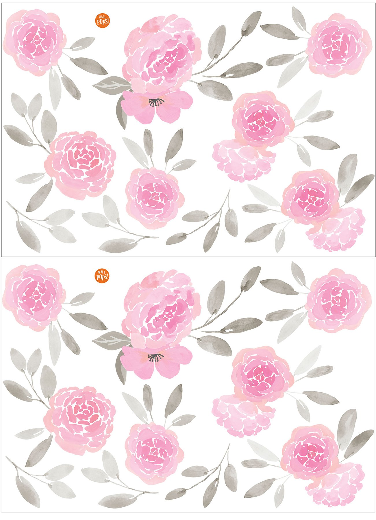 WallPops WPK2458 May Flowers Wall Art Kit Pink by Wall Pops (Image #3)