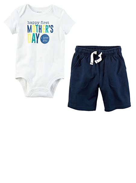 4d8150909 Amazon.com  Carter s Baby Boy s Happy First Mother s Day Bodysuit ...